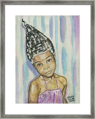 Conehead Framed Print
