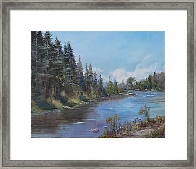 Conejos River Bend Framed Print by Elaine Monnig