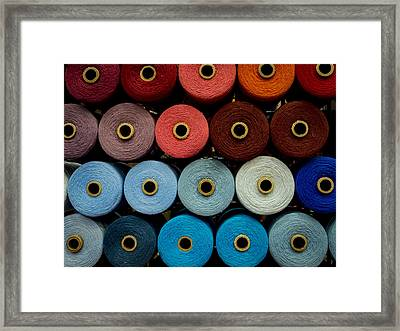 Cones Of Thread Framed Print by Jean Noren