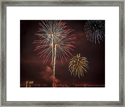 Conesus Ring Of Fire 2015 Framed Print by Richard Engelbrecht