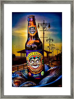 Coney Island Beer Framed Print