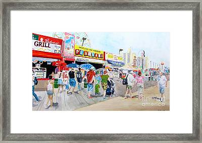 Coney Island Framed Print by Beth Saffer