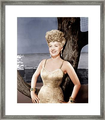 Coney Island, Betty Grable, 1943 Framed Print
