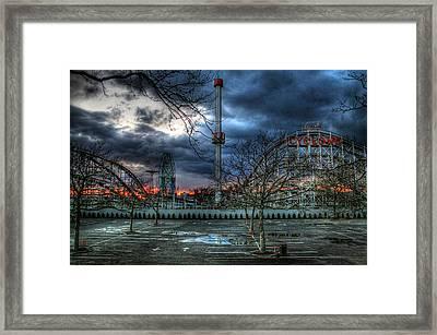 Coney Island Framed Print by Bryan Hochman