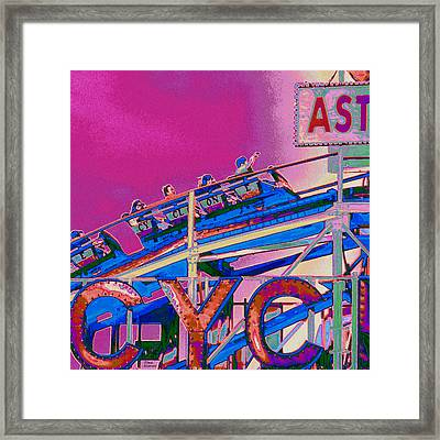 Coney Island Cyclone I Framed Print