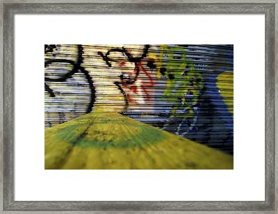 Coney Island Graffiti Framed Print