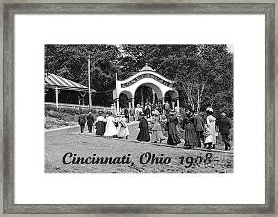 Coney Island In Cincinnati 1908 Framed Print by Padre Art