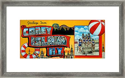 Coney Island New York Framed Print