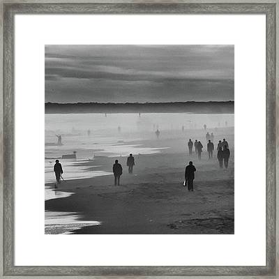 Coney Island Walkers Framed Print