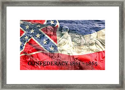 Confederacy History Framed Print by David Lee Thompson