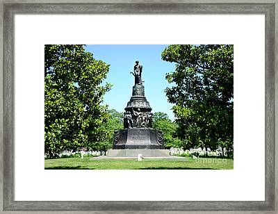 Confederacy Monument At Arlington Framed Print by Paul W Faust - Impressions of Light
