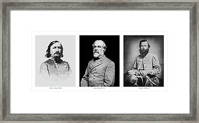 Framed Print featuring the photograph Confederarte Triptych by Paul W Faust - Impressions of Light