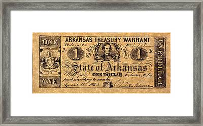 Confederate Banknote Framed Print by Granger