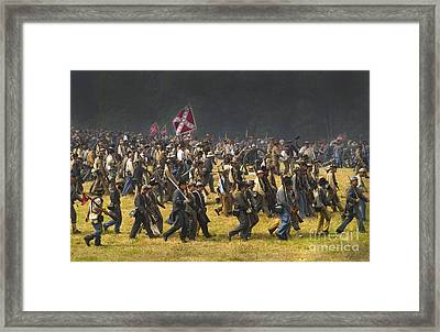 Confederate Charge At Gettysburg Framed Print