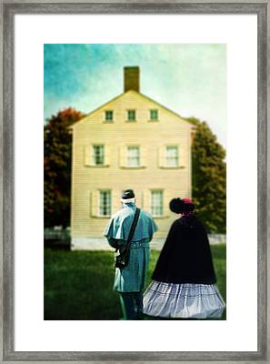 Confederate Couple Framed Print
