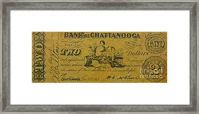 Confederate Currency  Framed Print by Pd
