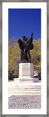 Confederate Defenders Statue In A Park Framed Print