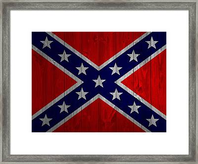 Confederate Flag Barn Door Framed Print