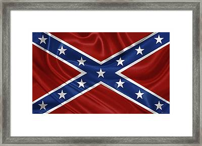 Confederate Flag - Second Confederate Navy Jack And The Battle Flag Of Northern Virginia Framed Print by Serge Averbukh