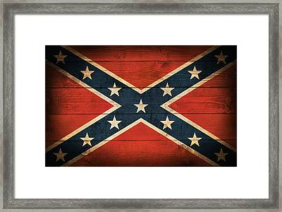 Confederate Flag Framed Print by Taylan Apukovska