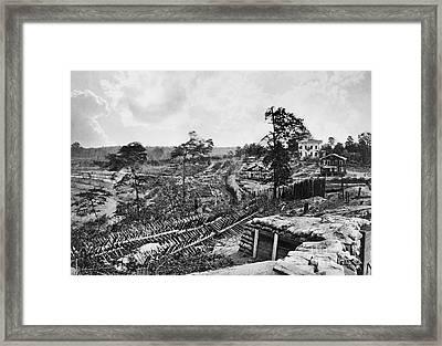 Confederate Fort Framed Print