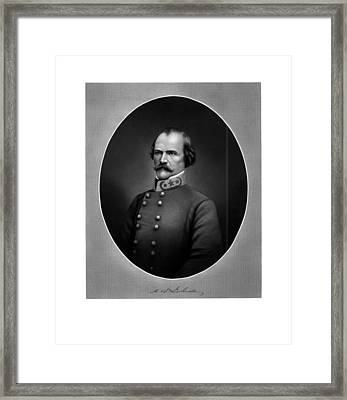 Confederate General Albert Sidney Johnston Framed Print by War Is Hell Store