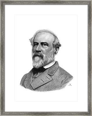 Confederate General Robert E Lee Framed Print by Charles Vogan