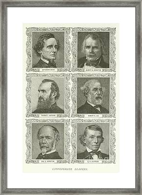Confederate Leaders Framed Print