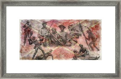 Confederate Monuments On The Gettysburg Battlefield Framed Print