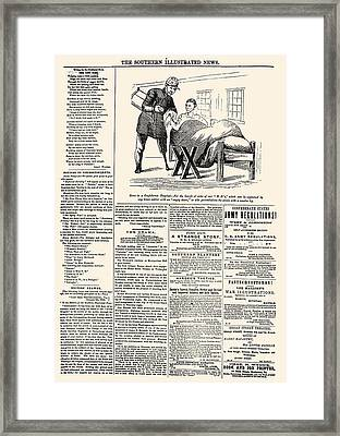 Confederate Newspaper Framed Print