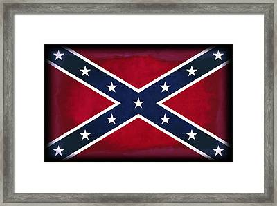 Confederate Rebel Battle Flag Framed Print by Daniel Hagerman
