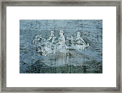 Confederate Relief At Stone Mountain Framed Print