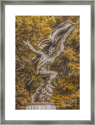 Confederate Soldiers And Sailors Monument Gettysburg Ver 2 Framed Print by Randy Steele