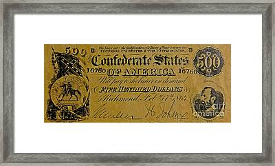Confederate States Framed Print by Pd