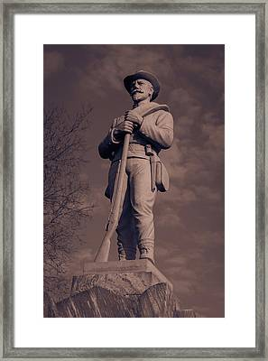 Confederate Statue  Standing Guard Framed Print