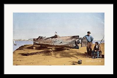 H.l. Hunley Framed Prints
