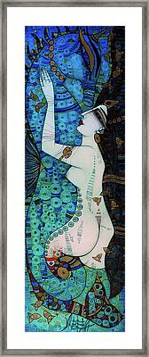Confessions In Blue Framed Print