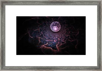 Confessions Of A Crystal Ball Framed Print by Rhonda Barrett