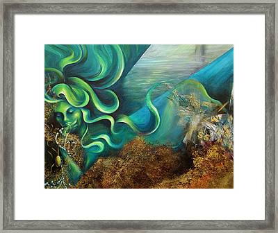 Framed Print featuring the painting Confessions Of A Mermaid by Dina Dargo