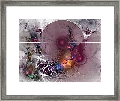 Confetti - Fractal Art Framed Print