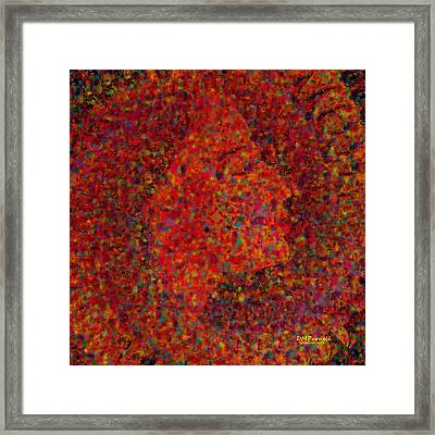 Confetti At Midnight Framed Print by Diane Parnell