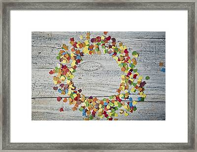 Confetti Circle Framed Print