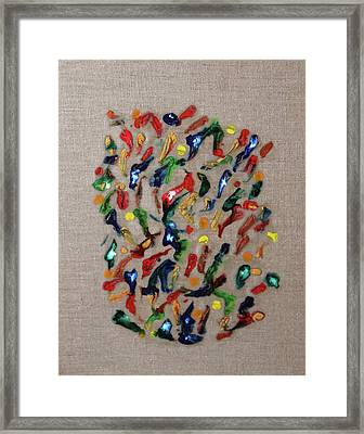 Framed Print featuring the painting Confetti by Deborah Boyd