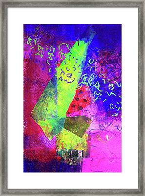 Framed Print featuring the mixed media Confetti by Nancy Merkle