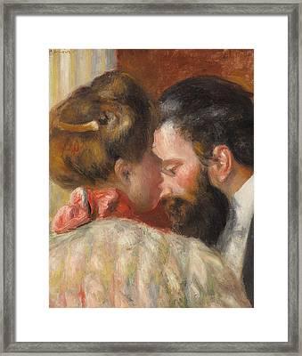 Confidence Framed Print by Pierre Auguste Renoir