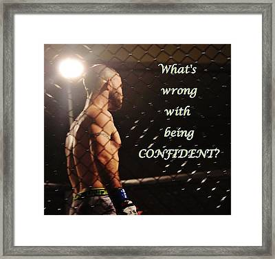 Confident Framed Print
