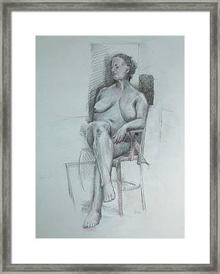 Confident Nude Framed Print