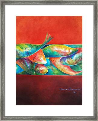 Confined But Beautiful Framed Print by Benedict Olorunnisomo