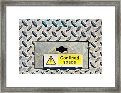 Confined Space Framed Print by Tom Gowanlock