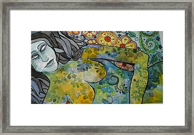 Conflict Framed Print by Claudia Cole Meek